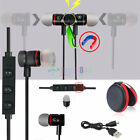 Black -KM56 Magnetic Bluetooth Handsfree Headset Earphone For Cell Phone Samsung