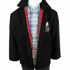 Warrior England Donkey Jacket Winter Coat Tartan Lining Worker Skinhead Punk Mod
