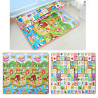 200x180cm 2 Side Kids Crawling Educational Game Baby Play Mat Soft Cotton Carpet