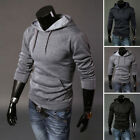 Men's Casual Slim Fit Hoodies Hooded Sweatshirt Front Pocket Outwear Sweatshirt