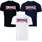 Lonsdale Two Tone T-Shirt Boxing Classic Logo Black Blue White Regular-Fit