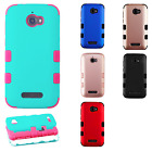 For Coolpad Defiant IMPACT TUFF HYBRID Hard Case Skin Phone Cover + Screen Guard