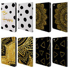 OFFICIAL HAROULITA BLACK AND GOLD LEATHER BOOK WALLET CASE COVER FOR APPLE iPAD