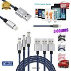 3 Pack 10ft Apple Certified Lightning Cable Charger And Sync