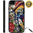 Sugar Skull Day of the Dead Case For iPhone 6S 7 Plus Samsung Galaxy S7 S8 Plus