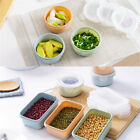 Plastic Food Storage Containers Rectangular Round Meal Prep Lunch Box Kitchen
