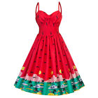 50s Vinatge Womens Strappy Sleeveless Short Dress Cocktail Party Swing Dresses
