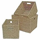 Deep Seagrass Storage Basket Box Hamper Rectangular Small Medium Large Ext large