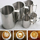 Kitchen Stainless Steel Coffee Tea Frothing Milk Latte Jug 100 350 600 1000mL