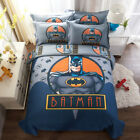 Batman Duvet Cover 100%Cotton Quilt Cover Flat Sheet Bedding Set 4PC All Sizes