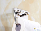 RV Self Adhesive Toilet Paper Holder Wall Mount Mounted Bathroom Polished Chrome
