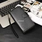 Men's Long Wallet PU Leather ID Card Photo Holder Clutch Purse Gift FT
