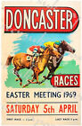 Vintage 1969 Doncaster Horse Racing Poster A3/A4 Print