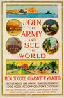 British Empire Join The Army See The World Recruitment Poster A3/A4 Print