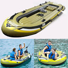 Inflatable Fishing Boat Raft PVC Canoe Dinghy Tender 3 Person Kayak With 2 Oars
