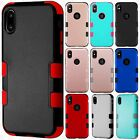 For Apple iPhone 8 IMPACT TUFF HYBRID Protector Case Skin Covers +Screen Guard