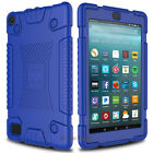 For Amazon Kindle HD 8/Fire 7 2017 Case Shockproof Soft Silicone Rugged Cover