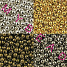 2.4mm-8mm SILVER PLATED & Bronze Gold Metal Round SPACER BEADS