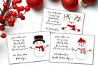 Christmas Thank you cards x 10 (W184A - W184C)  Girl or Boy Personalised