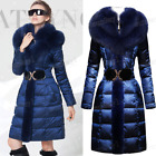 2017 Lady's Down Coat Fur Collar White Duck Down Royalblue Thicken S-4XL New