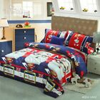 Christmas Kids Duvet Cover 100% Cotton Quilt Cover Santa Claus Bedding Set New