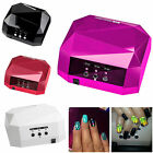 36W LED UV Light Lamps Nail Art Dryers Curing Gel Gelish Timer Acrylic 220V UK