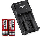 EBL 5000mAh 26650 Li-ion Rechargeable Battery w/ Charger for 22650 18650 AA AAA