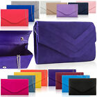 Faux Suede Medium Evening Bag Women Envelope Clutch Ladies Prom Party's New Look