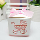 10/25/50 Laser Cut Carriage/Foot Baby Shower Table Decor Candy Boxes Favor Gift