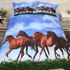Horses Duvet Doona Quilt Cover Set Single King Queen Animlal Covers Cloudy New