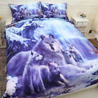 Snow Wolf Quilt/Doona/Duvet Cover Set King Single Queen Size Glacier Animal NEW
