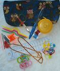 KNITTING TOOLS KIT - OWL 3 COLOURS - YOU CHOOSE BAG - 42 pieces - DELUXE #1