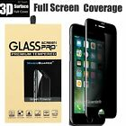 Full Coverage Privacy Tempered Glass Screen Protector For iPhone 6 6s 6 Plus 7 8