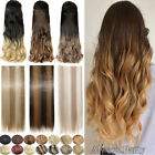 Real Long Clip In Hair Extensions One Piece 3/4 Full Head Straight Wavy As Human