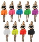 Womens 5 Layers Tutu Skirt With Ribbon Ladies Night Dance Party Mini Skirt