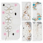 Bling Diamond Crystal Leather Flip Wallet Phone Case Rhinestone Cover For HUAWEI
