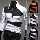 Latest Men Autumn Polo Style T-Shirts Long Sleeve Tee Shirt Slim Fit Leisure Top