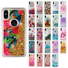 For Apple iPhone X Liquid Glitter Quicksand Hard Case Phone Cover Accessory