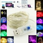 10M 100 LEDs USB Powered 8 Models LED Silver Wire Fairy String Lights Lamp Xmas