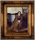 Degas Victoria Dubourg 1868 Wood Framed Canvas Print Repro 8x10