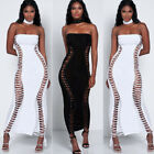 Ladies Women Bandage Bodycon Sleeveless Evening Party Cocktail Club Long Dress