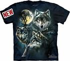 Moon Wolves Collage Adult T-Shirt by The Mountain - 10-3309