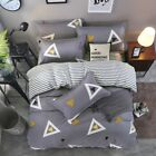 Single Queen Bed Set Pillowcase Quilt/Duvet Cover Cotton Blend tUSl Triangle jhy