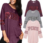 Women Casual Tops New T-Shirt Loose Fashion Blouse Long Sleeve Cotton Blouse US