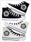 Supernatural Neutral Leisure Black&White High-help canvas sh