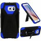 New Premium Dual Layer Hybrid T Kickstand Case Cover For Samsung Galaxy S6