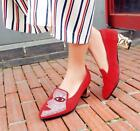 Pointy Hot Womens Shoes Vintage Autumn Pumps Sequins Block Heel Date Cute 31-48