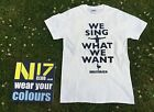 TOTTENHAM FANS NEW N17 CLUB WE SING WHAT WE WANT T SHIRT  SIZES SMALL LARGE & XL