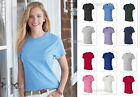 Hanes Nano-T Women's 100% Cotton Tag-free ladies Tee T-Shirt- SL04