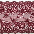 """Burgundy Wine Lace Clipped Wide Delicate 7.5""""/19 cm Trim Table Runner Lingerie"""
